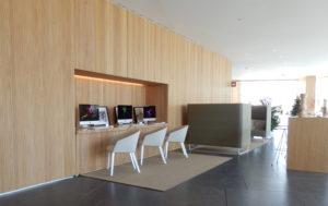Melia Palma Kongresshotel Frühstücksraum und Lounge mit Internet-Stationen